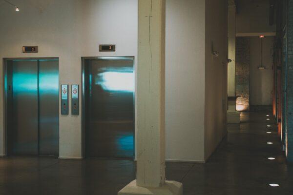 Elevators in lobby