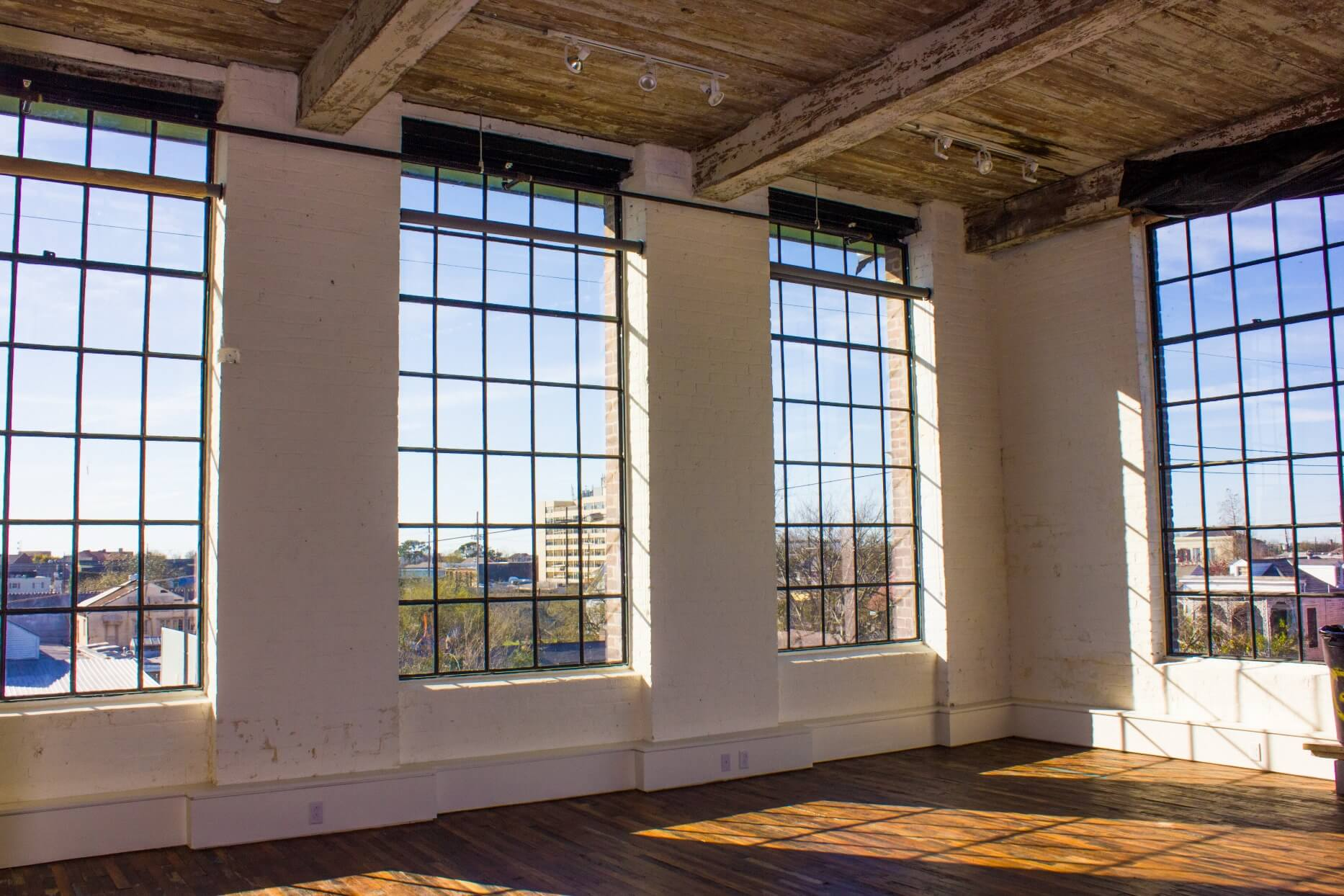 Windows with views of city