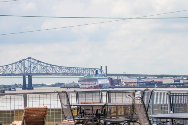 View of Mississippi River from rooftop deck